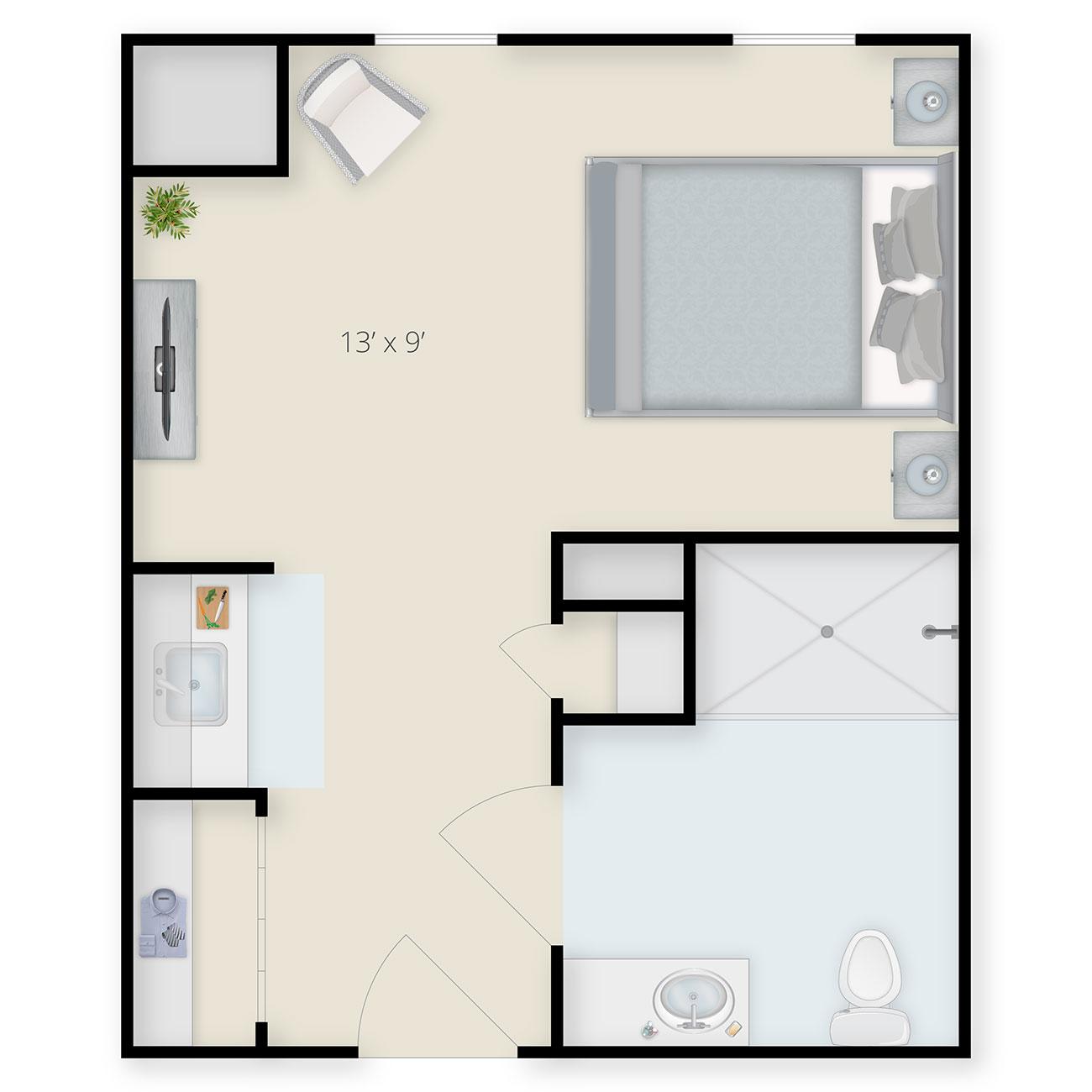 Studio Floor Plan B
